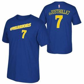 Golden State Warriors adidas 2015 Justin Holiday Social Media Tee - Blue