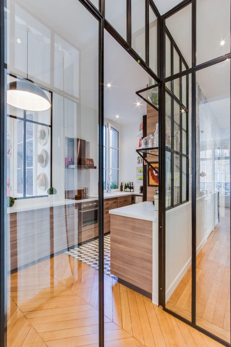Gcg Architectes cuisine verrière appartement parisien de 140m2 gcg architectes