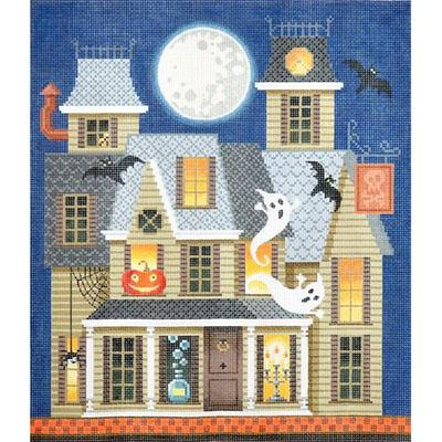 Halloween Art Witches Haunted House Cross Stitch Pattern