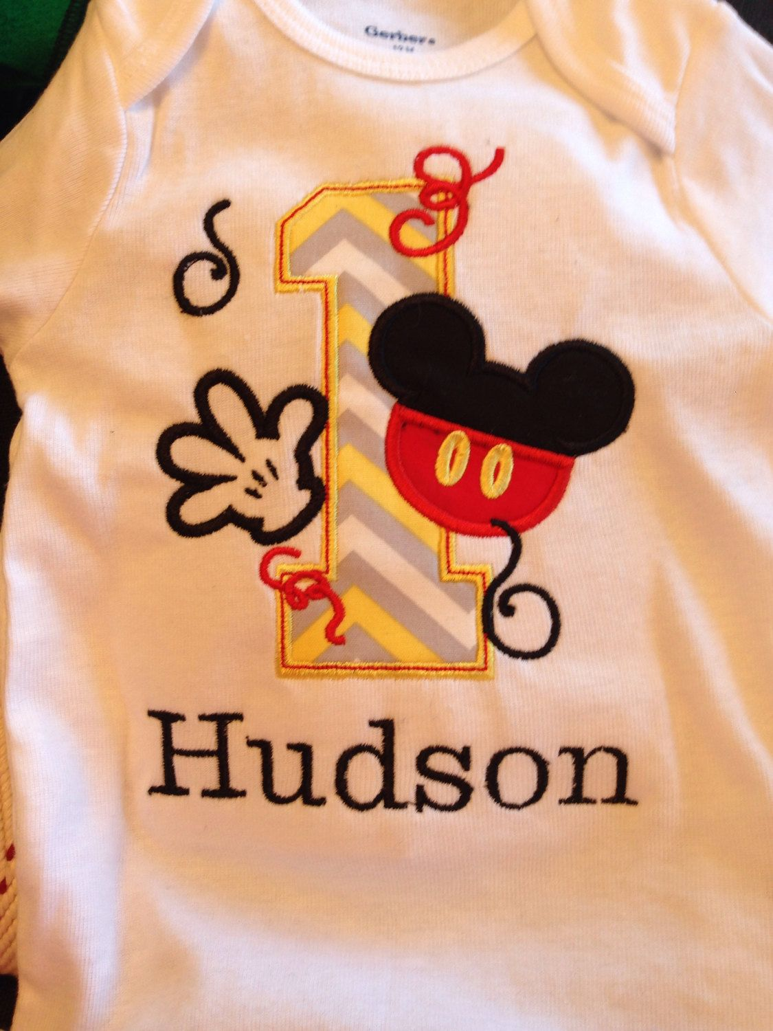 Items Similar To All Numbers Mickey Mouse Birthday Shirt On Etsy