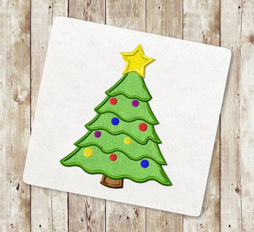 Christmas Tree Applique Embroidery Designs Holiday Applique Etsy Applique Embroidery Designs Embroidery Designs Embroidery Applique