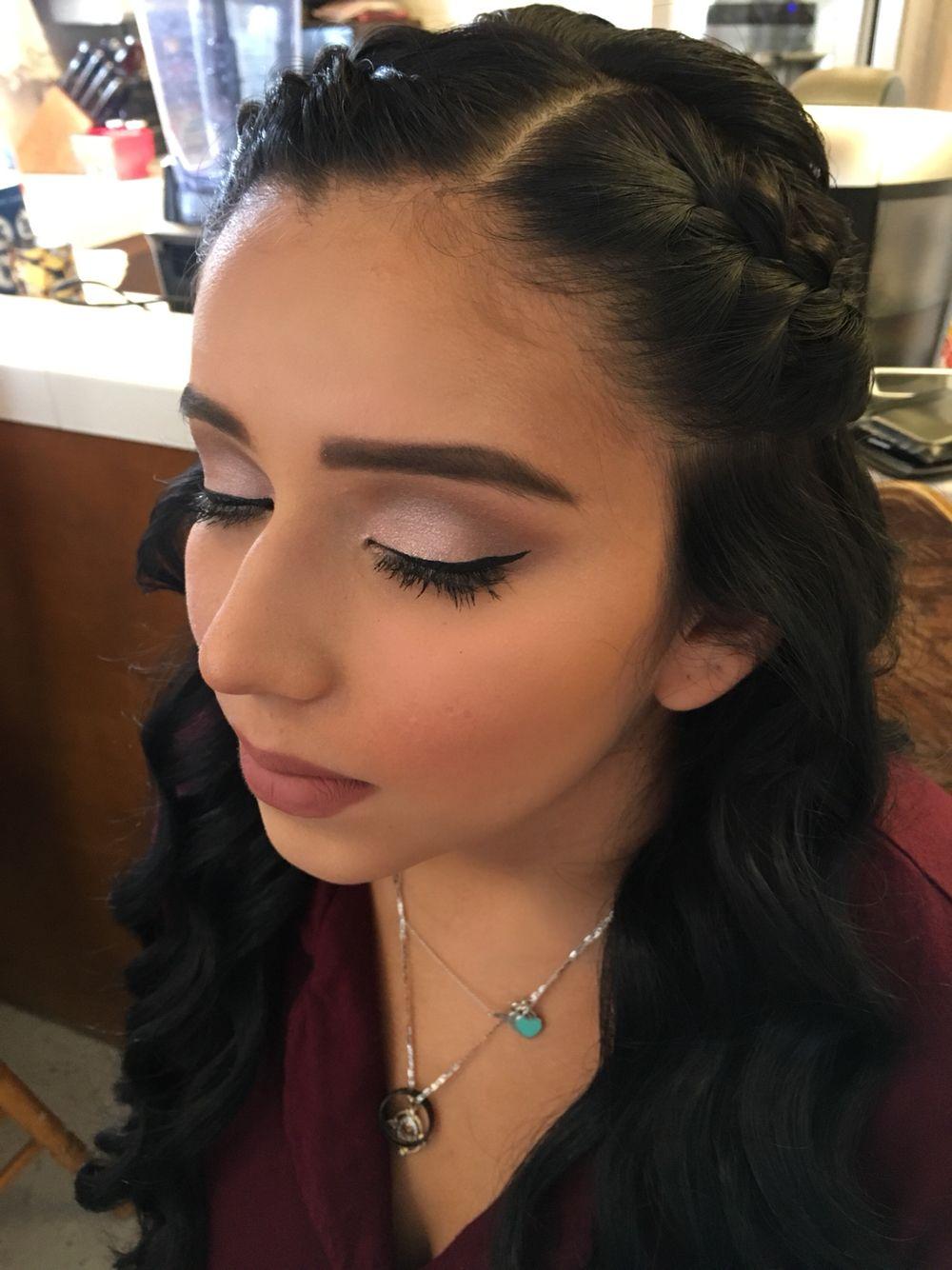 Sweet sixteen quinceañera makeup pink makeup natural quince ideas