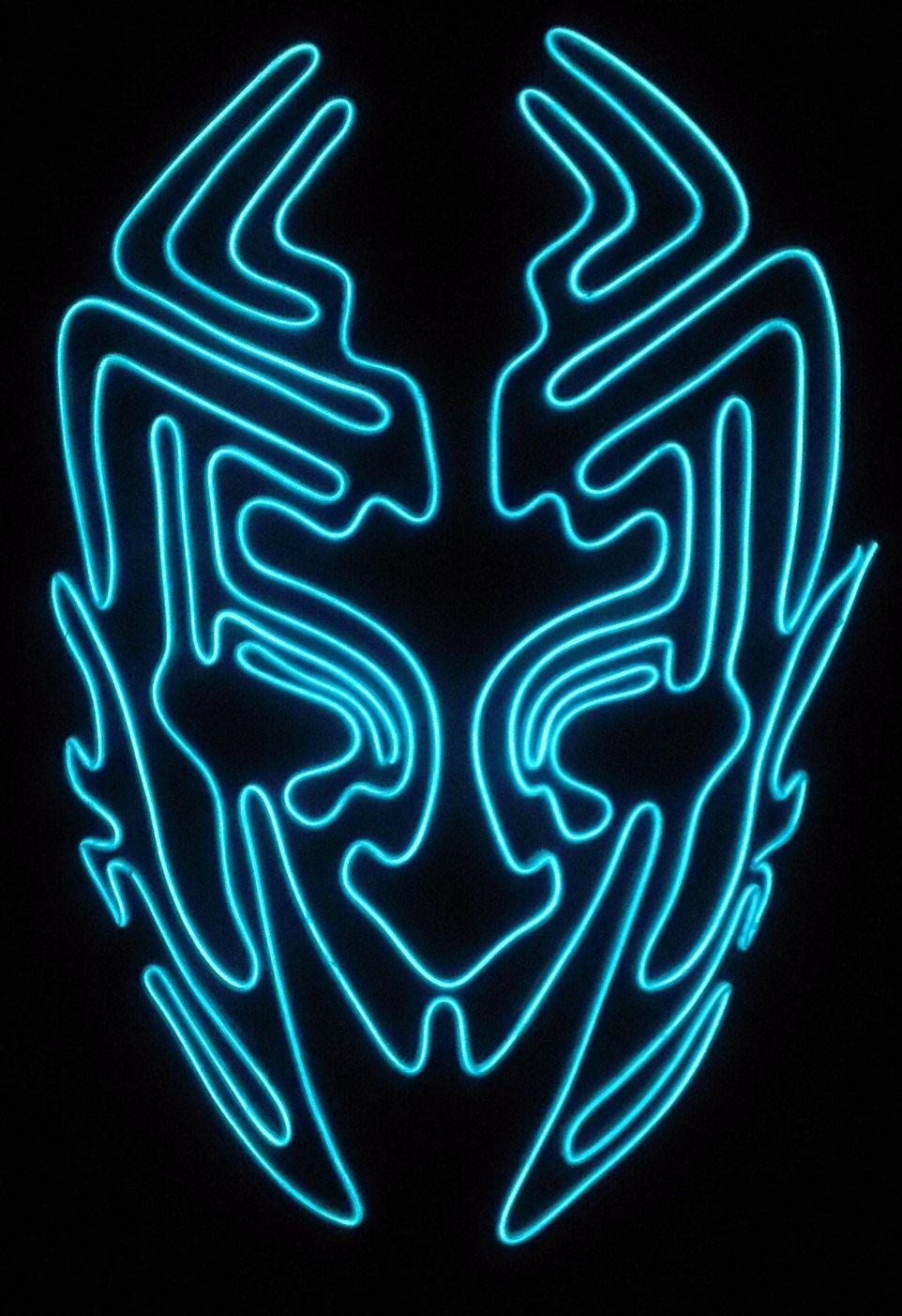 Alien Glow El wire mask. $50.00, via Etsy. | Costumes | Pinterest ...