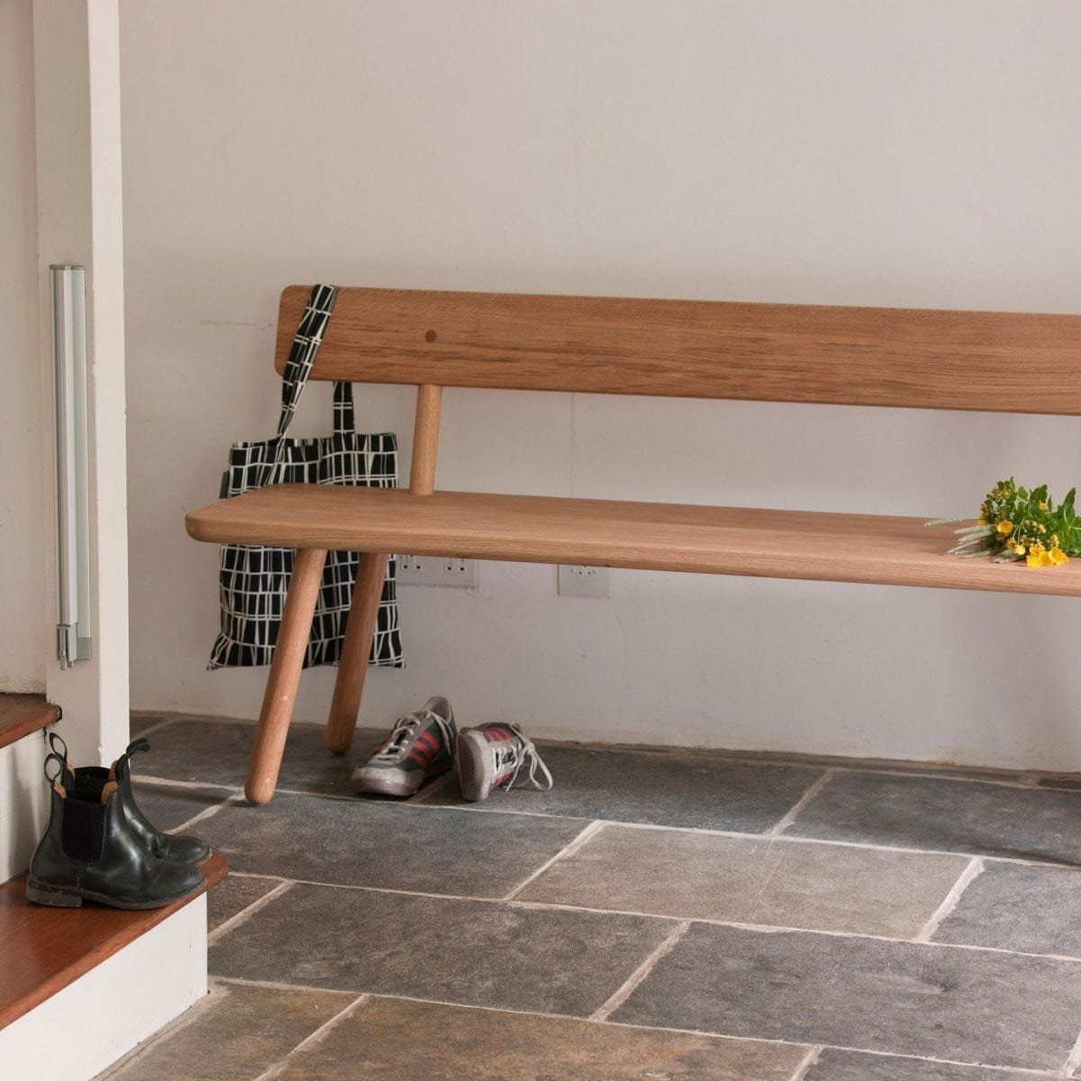 Oak Bench Back One by Another Country in 2020 Diy bench
