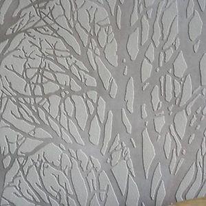 Details Zu U0027Metallisch Groveu0027 Wald / Baum Tapete In Grau Weiß, Bronze  Tönung U0026 Silber