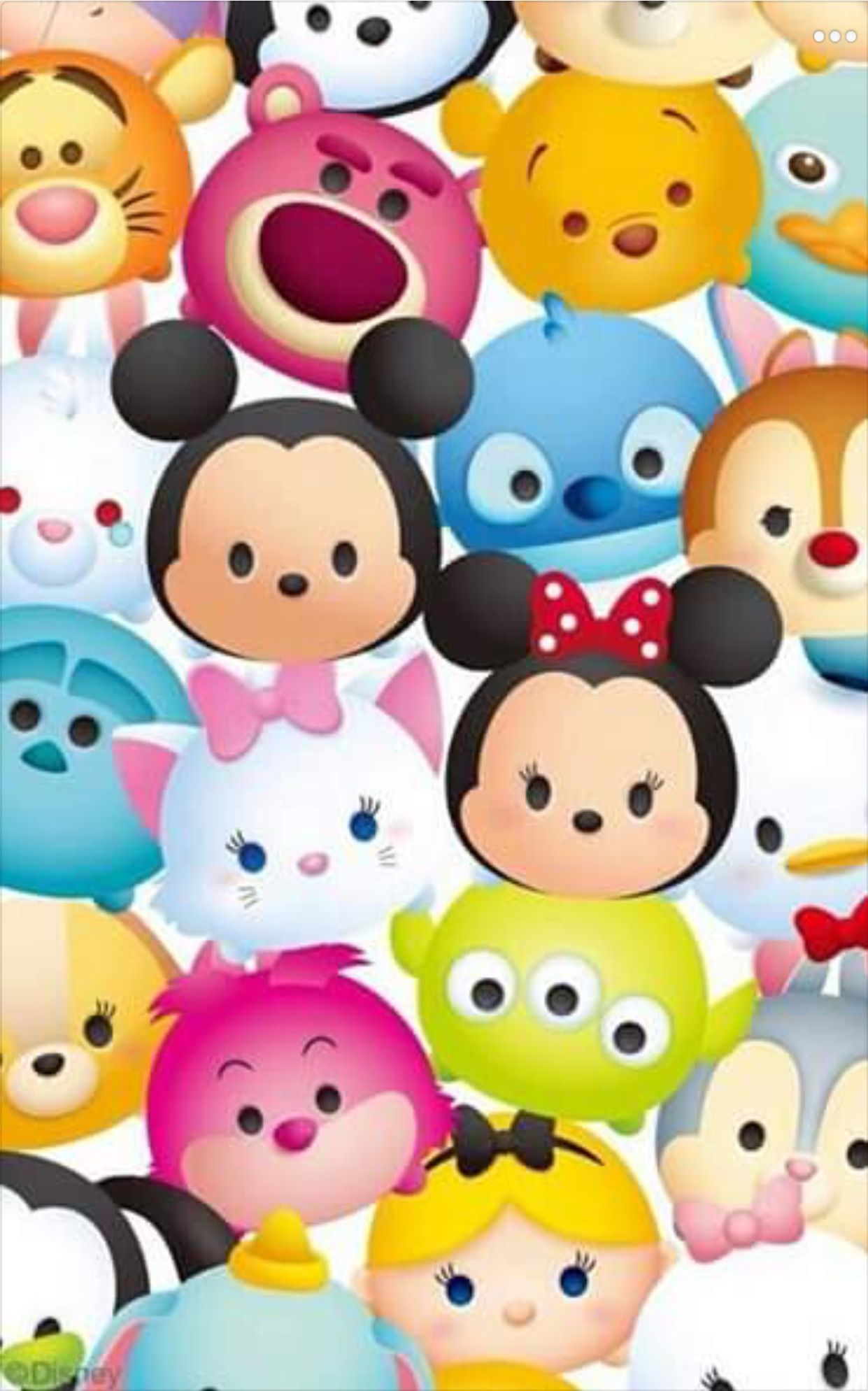 Tsum Tsum Disney Cell Wallpaper Pinterest