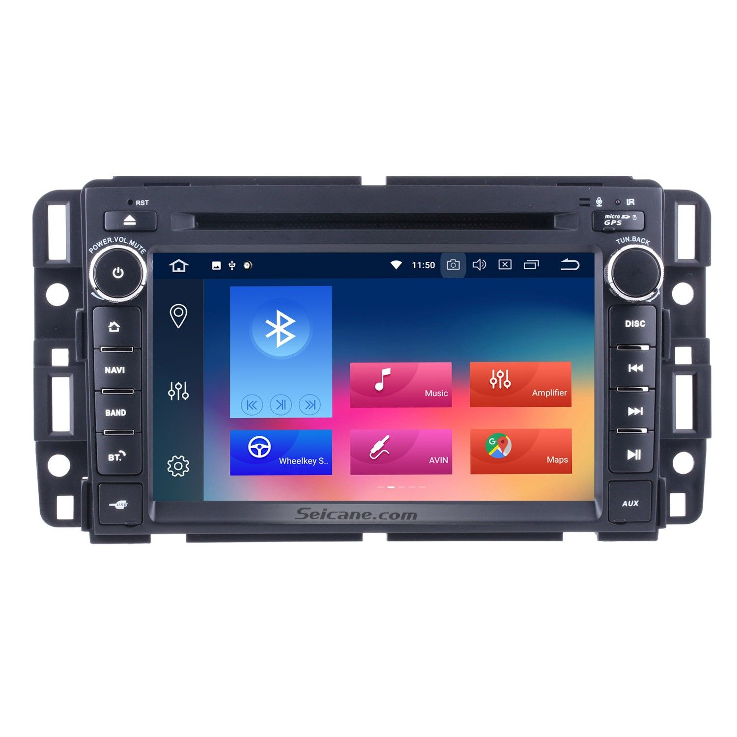 Seicane 2 Din Android 8 0 Radio Head Unit For 2009 2010 2011 Gmc