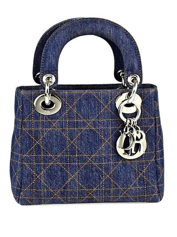 da5a703b6d Christian Dior Vintage Denim Mini Lady Dior Handbag by CuratedLuxe ...
