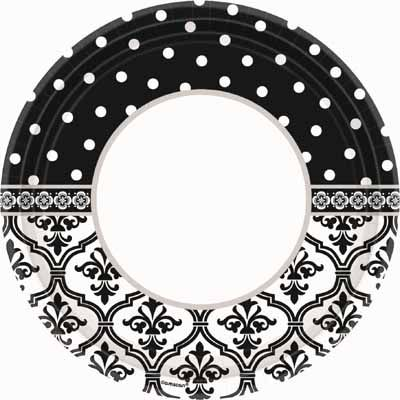 Damask u0026 Polka Dot Wedding Party Supplies feature black and white paper plates paper napkins and more! Perfect for your wedding bridal shower or ...  sc 1 st  Pinterest & Order Black and White Party Supplies with the Damask and Polka Dots ...