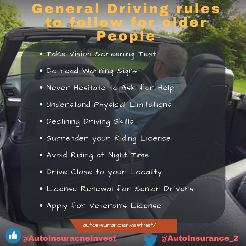 General Driving Rules To Follow For Older People Safe Driving