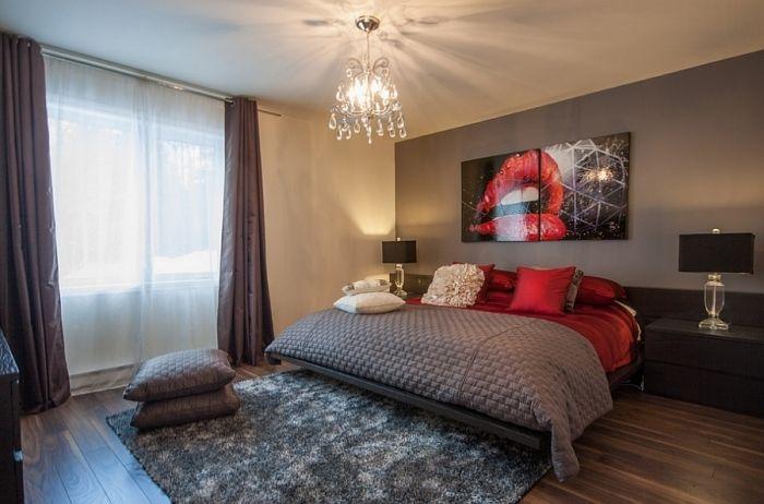 ... 14 Schlafzimmer In Rot Gestaltet \u2013 Romantisches Flair Pur    Schlafzimmer In Rot Gestaltet ...