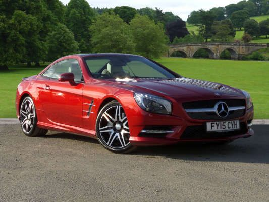 Used 2015 15 Reg Designo Hyacinth Red Metallic Mercedes Benz Sl