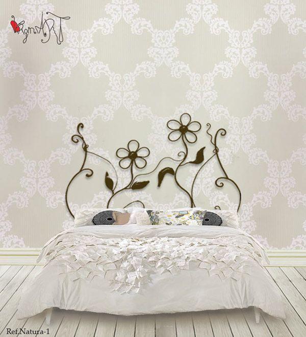 Cabecero de cama http://virginiart.es en hierro forjado de la ...