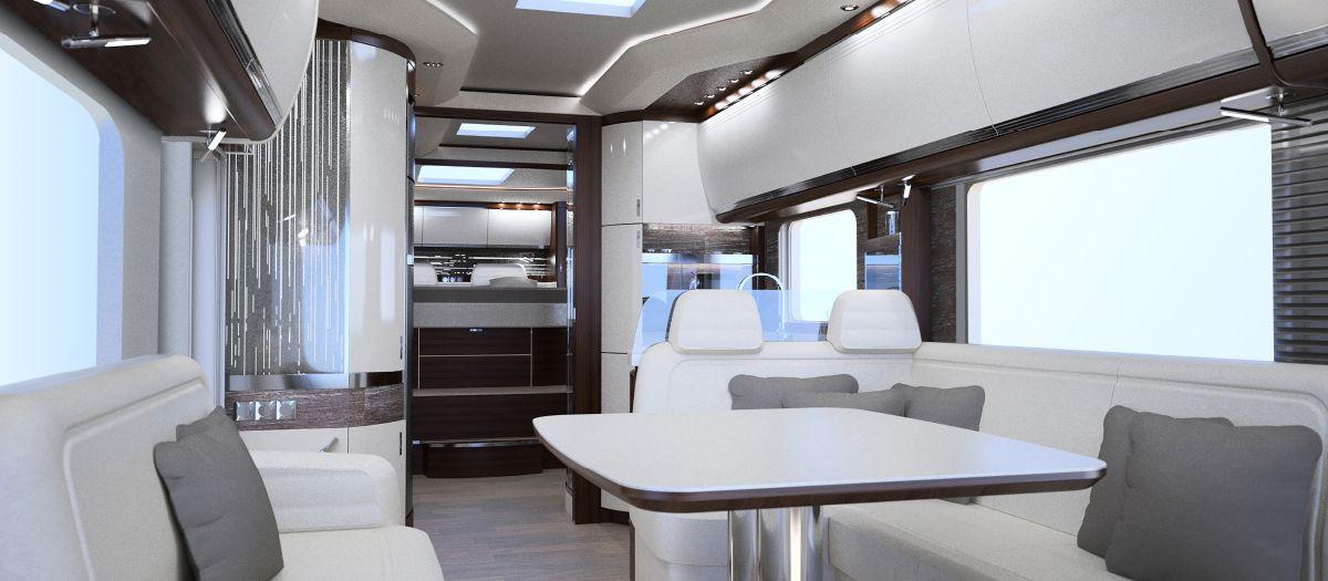 Luxus wohnmobile innenausstattung  MORELO EMPIRE LINER - Morelo Reisemobile: Luxus für Globetrotter ...