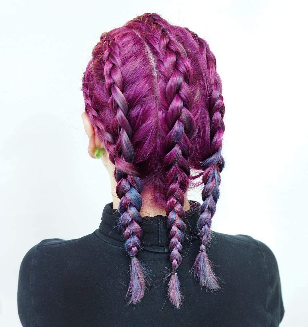 Braided+Hairstyle+For+Lilac+Hair
