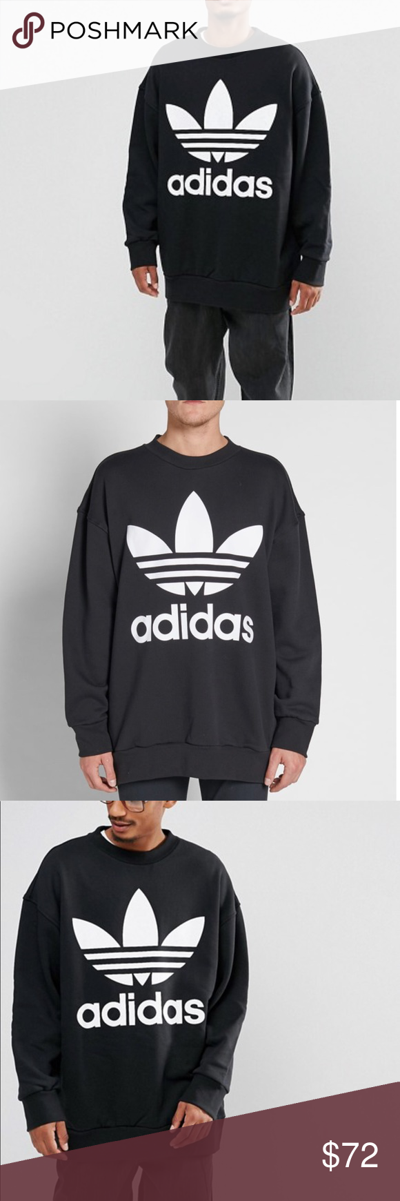 Brand New Adidas Oversized Crewneck Sweatshirt Brand New With Tags Never Been Used This Is An Oversi Sweatshirts Crew Neck Sweatshirt Branded Sweatshirts [ 1740 x 580 Pixel ]