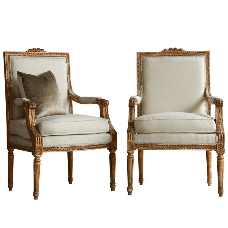 Gorgeous Vintage Louis Xvi Armchairs From A Unique Collection Of
