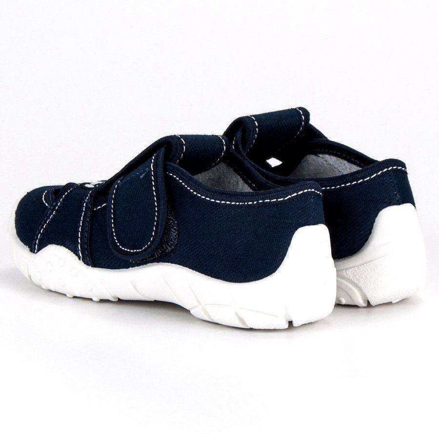 Kapcie Dzieciece Dla Dzieci Raweks Raweks Niebieskie Domowe Buty Na Rzep Baby Shoes Sneakers Shoes