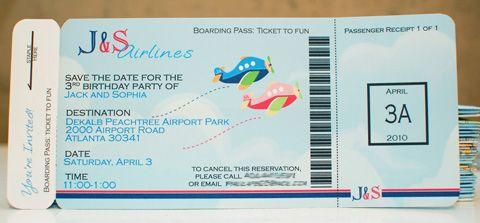 Boarding Ticket Invitation Ive been pinned Pinterest
