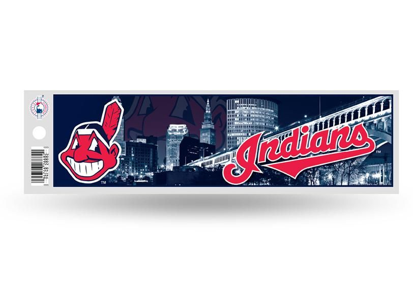 Cleveland indians bumper sticker new 3 x 11 inches free shipping rico