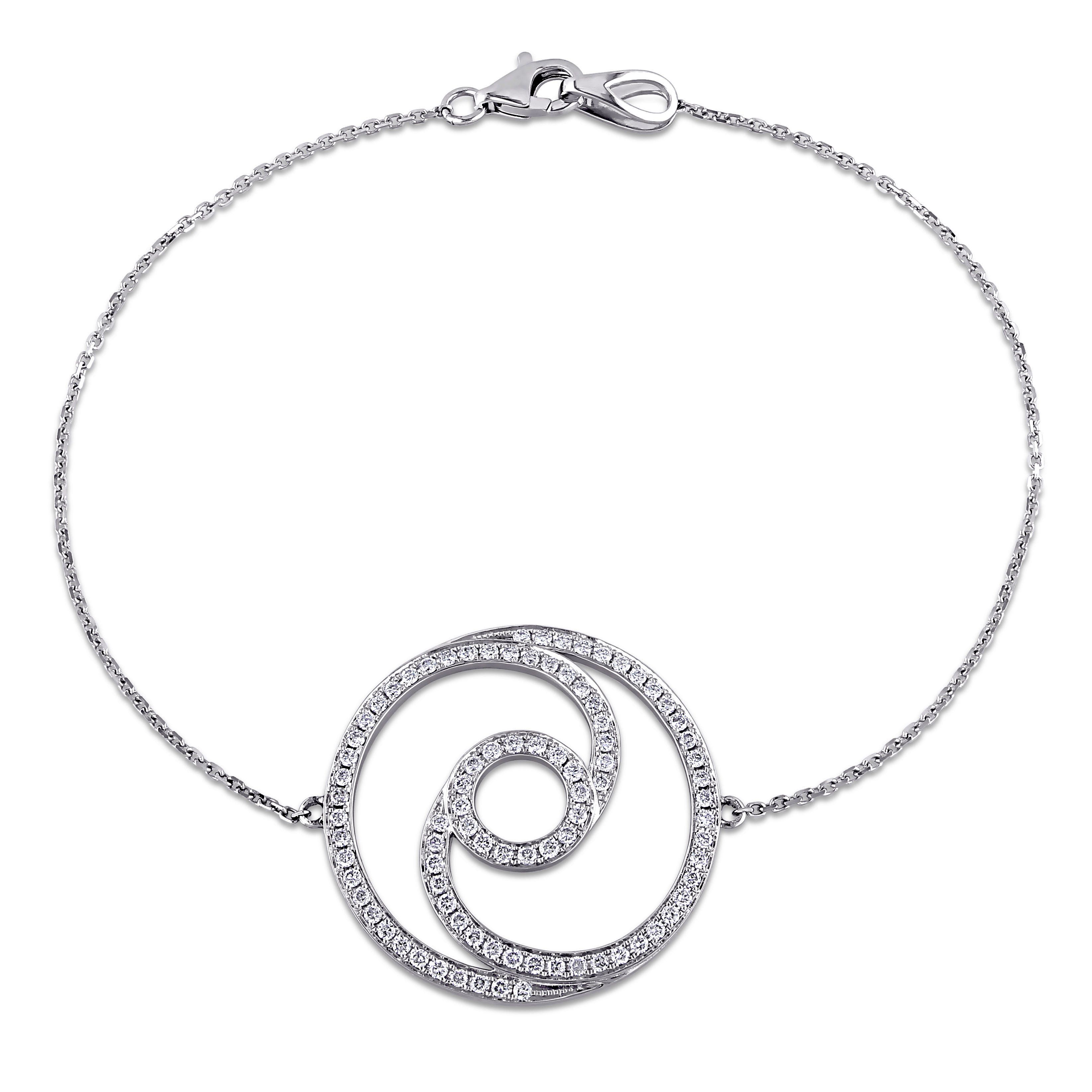 This attractive double circle bracelet from the shira design