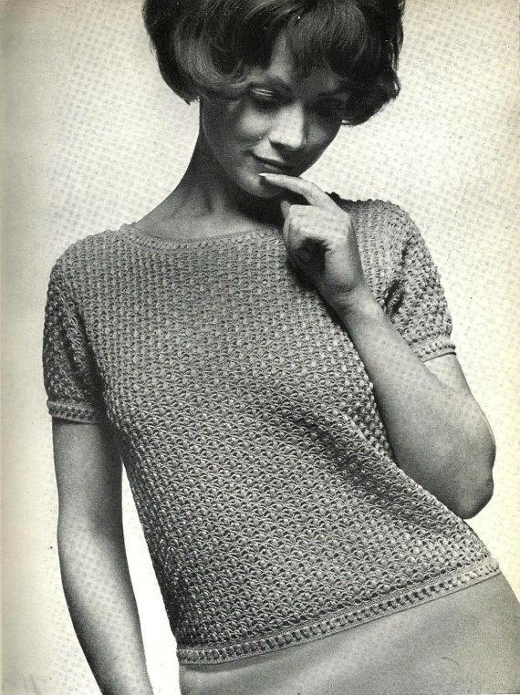 Crochet pattern Women's Top.1960's vintage von CrochetPatternRewind