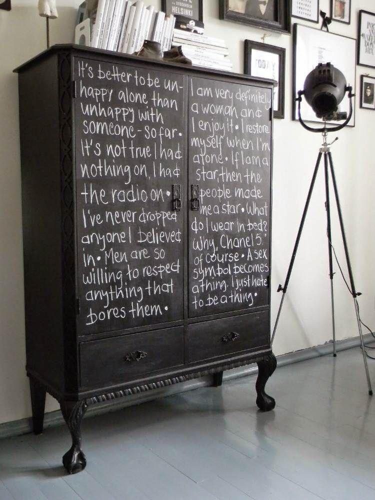 relooker armoire ancienne avec de la peinture tableau ardoise