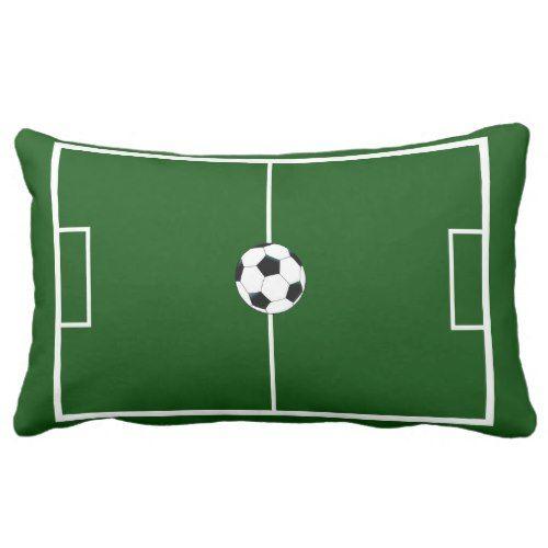Soccer Field Football Pitch Team Sports Lumbar Pillow Zazzle Com In 2020 Football Pitch Soccer Field Soccer