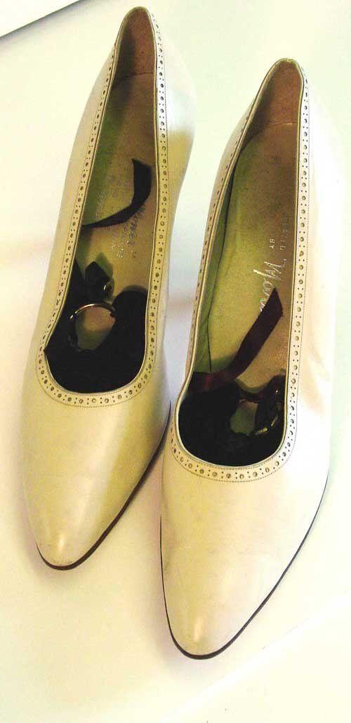 Jacqueline Bouvier Kennedy S Italian Handmade Beige Leather Shoes Size 10a The Flower