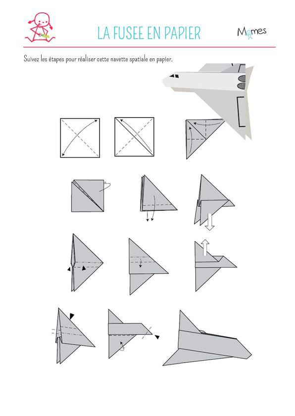 Navette spatiale en papier Origami and Diy origami