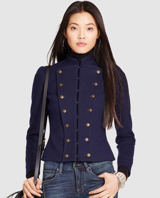 197e8300702 Chaqueta morada de mujer Polo Ralph Lauren con adorno de botones ...