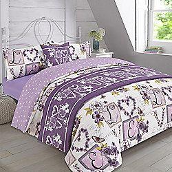 Complete Bed in a Bag Duvet Set Millie Hearts Mauve