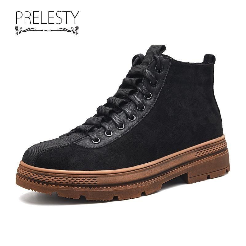Prelesty Winter Men Desert Boots Formal Autumn Shoes ...