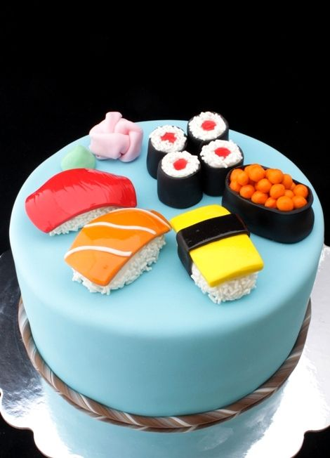 Phenomenal Sushi Cake Sushi Cake Sushi Cake Birthday Creative Cakes Funny Birthday Cards Online Barepcheapnameinfo