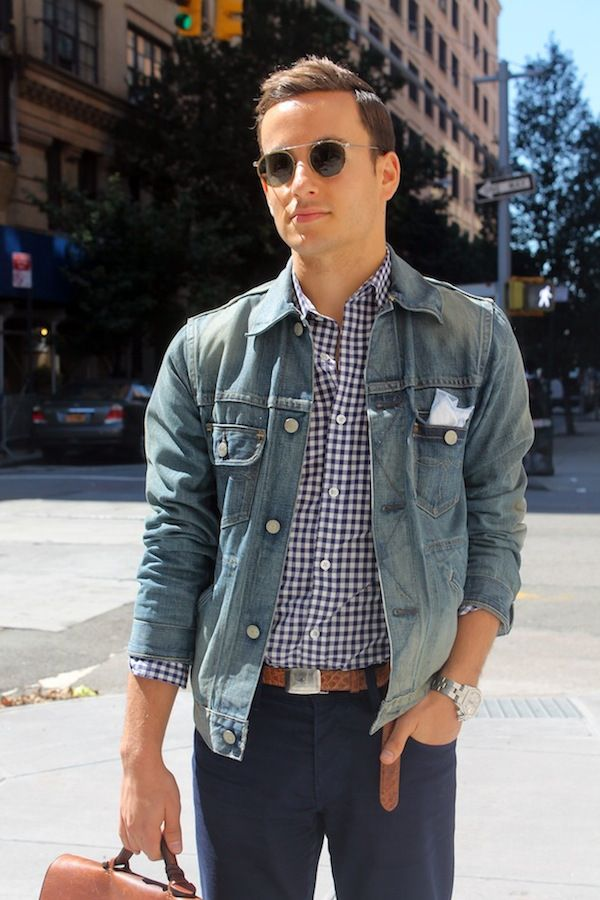 229c9c2c89 Street Style: How To Dress Up A Denim Jacket | VeeTravels.com #mensfashion # style #outfit #ralphlauren