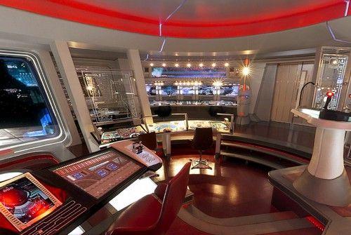 Bridge of JJ Abrams USS Enterprise NCC1701 Star Trek