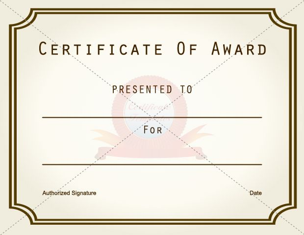 Award Certificate Templates Certificate Template Pinterest - certificate of achievement template