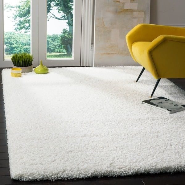 Safavieh California Shag Izat Solid Rug Area Rugs Cheap White Shag Rug Shag Area Rug