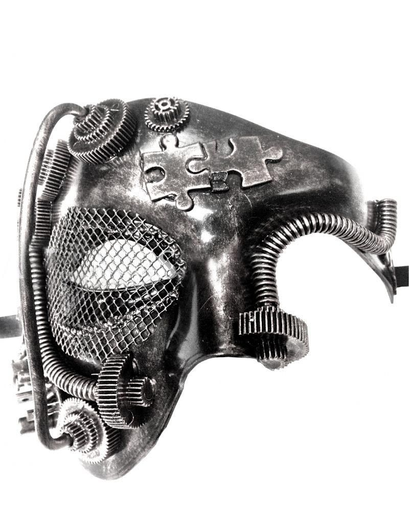 Men Women Steampunk Fiction Black Silver Phantom Half Face /& Eye Masks