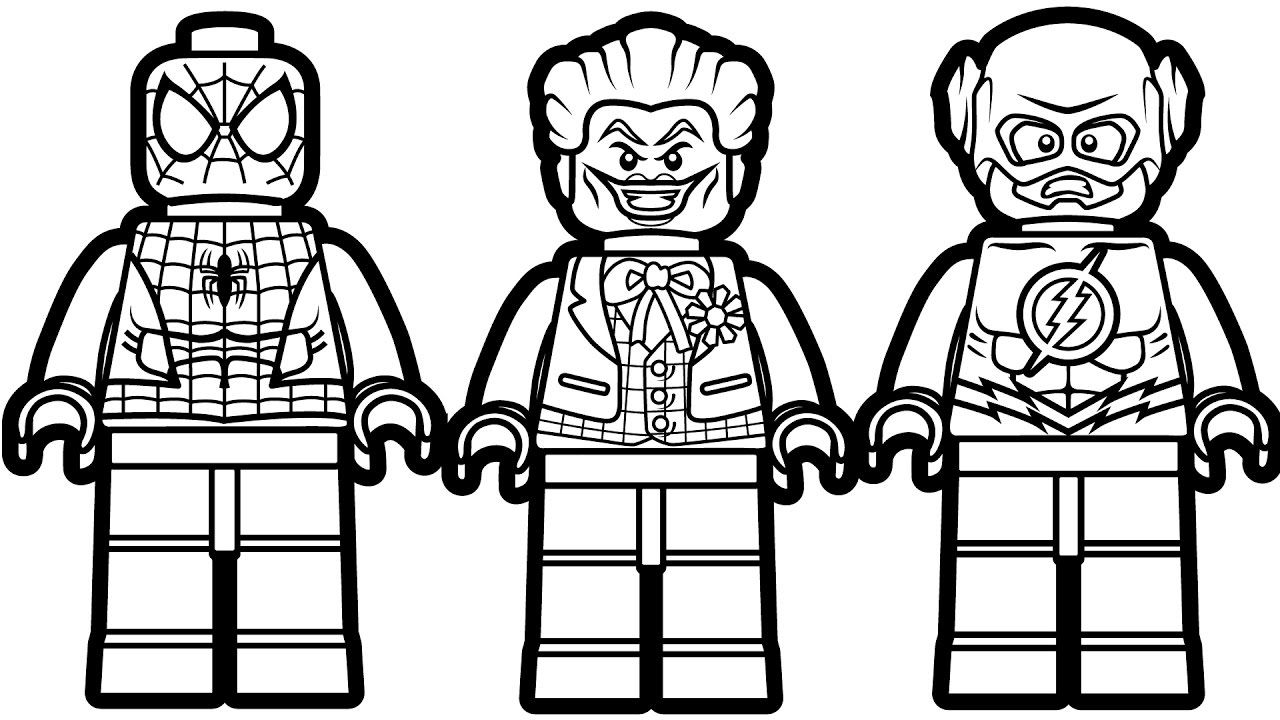 Lego Justice League Coloring Pages | Justice League | Pinterest