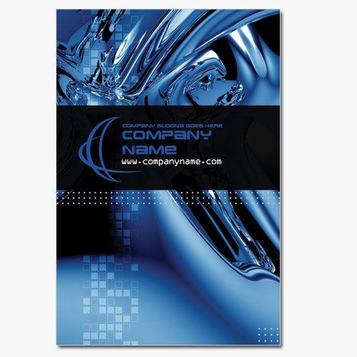 Computer business card template in high tech blue design buisness computer business card template in high tech blue design reheart Images