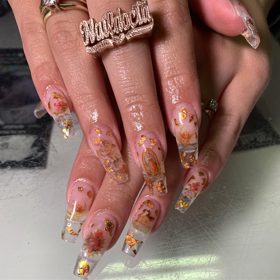Mary Baby Jesus Nails Mexican Nails Angel Nails Best Acrylic Nails