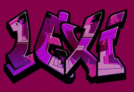 LEXI GRAFFITI | Graffiti names, Graffiti lettering, Graffiti