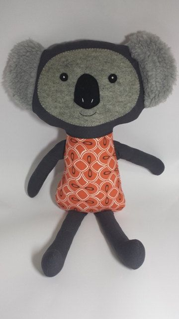 Koko Koala softie Pattern by KimikoDesigns on Etsy, $10.00 | Toys ...