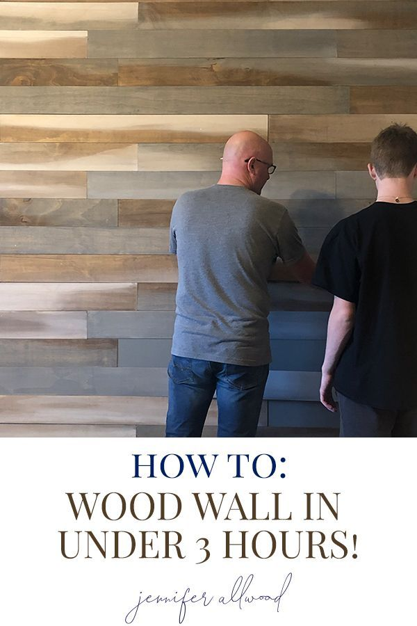Ideas : This #woodwall was so easy to install... I love how it brings so much #texture to the room! By Jennifer Allwood #teenbedroom #bedroomideas #homedecor #homedecorating #rustic #rustichomedecor #decoratingideas