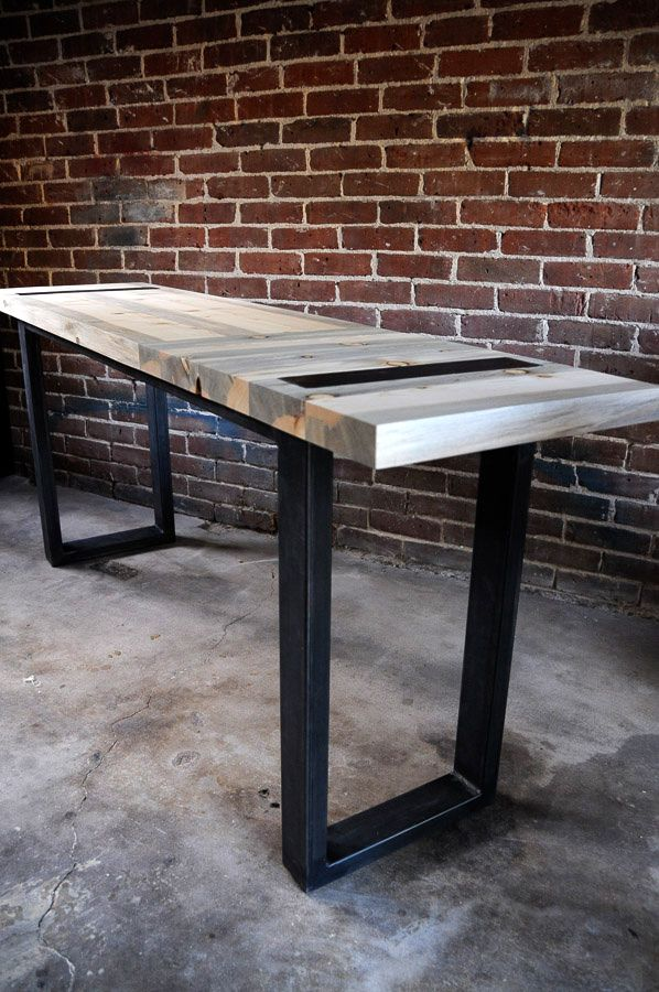 Nice Steel And Beetle Kill Pine Table By AND Collaborative. Industrial Furniture  Hu0026MADE In Denver,