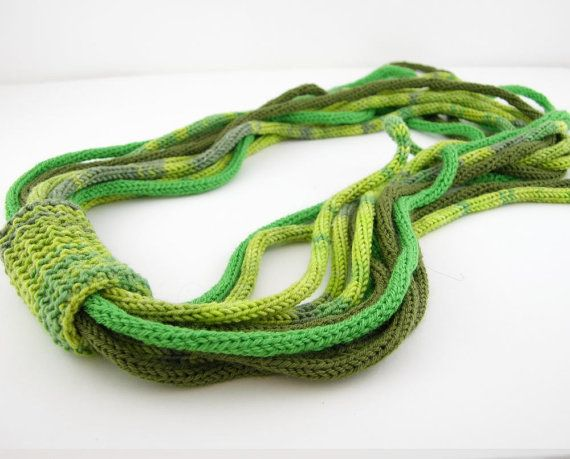 Knitting Loop Scarf : Scarf necklace loop infinity neck wrap knit by piabarile