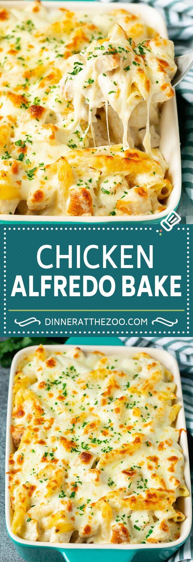 Chicken Alfredo Bake | Baked Pasta