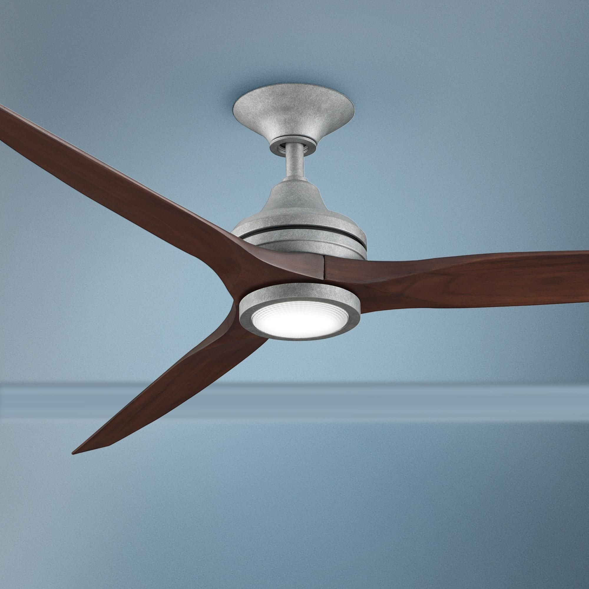 60 Inch Fanimation Spitfire Galvanized Led Ceiling Fan Di 2020