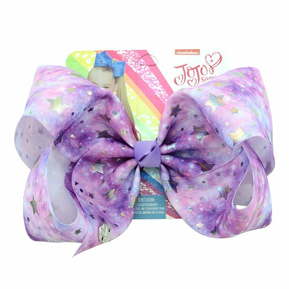 8 Inch Girl/'s Fashion Rainbow Color Wide Print Hair Bow Clip Coral Knot Hairpin
